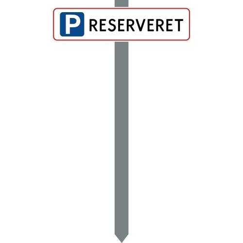 PARKERINGSSPYD P RESERVERET SKILT 10X40 CM (R)