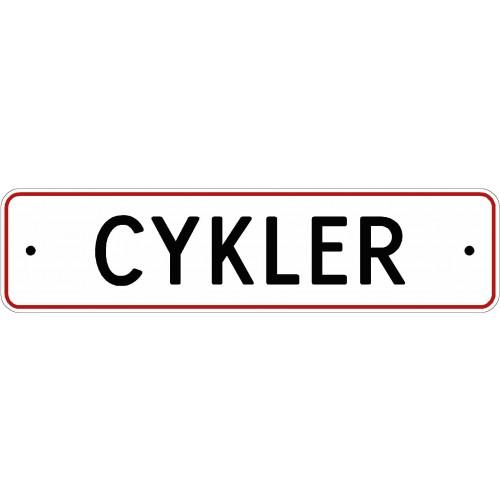Cykler 10x40 cm Parkeringsskilt
