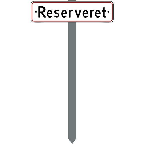 Parkeringsspyd med Reserveret
