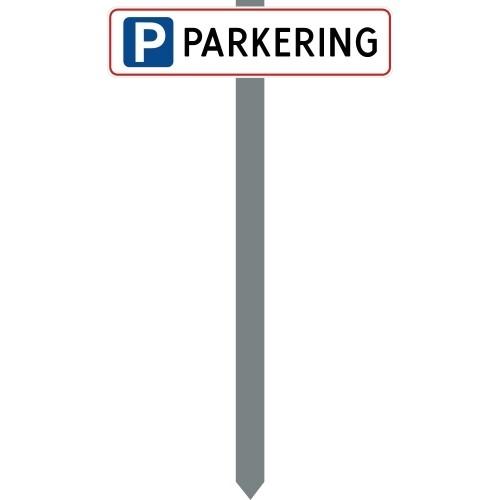 PARKERINGSSPYD PARKERING HVIDLAKERET SKILT 10X40 CM