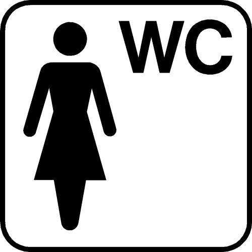 Piktogram DS505 Dame WC