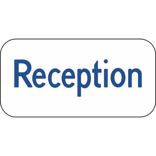 Reception Aluskilt