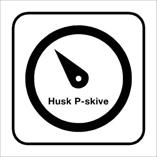 Skilt med piktogram HUSK P-SKIVEN