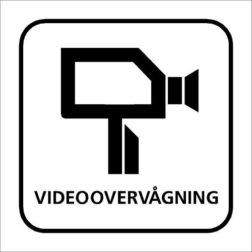 Skilt med piktogram Videoovervågning