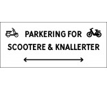 1099-30x70-100H Scooter & knallert parkering dobbeltpil