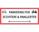 1099-30x70-100R Scooter & knallert parkering dobbeltpil