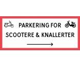 1099-30x70-102S Scooter & knallert parkering højrepil