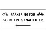1099-30x70-103H Scooter & knallert parkering venstrepil