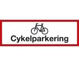 Cykelparkering 20x60 cm - Aluskilt