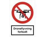 Droneflyvning forbudt - Aluskilt 30x20 cm