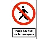 1100-30x20-Ingen adgang for fodgængere