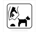 Hundeefterladenskaber - Aluskilt HVID SORT