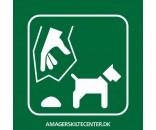Hundeefterladenskaber - Aluskilt