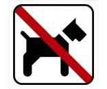 Hund forbudt - Aluskilt