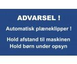 AUTOMATISK PLÆNEKLIPPER 30X50 CM ALUSKILTE-BLÅ / HVID