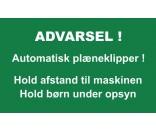 AUTOMATISK PLÆNEKLIPPER 30X50 CM ALUSKILTE-GRØN/HVID