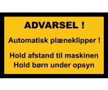 AUTOMATISK PLÆNEKLIPPER 30X50 CM ALUSKILTE-SORT / GUL