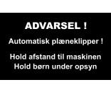 AUTOMATISK PLÆNEKLIPPER 30X50 CM ALUSKILTE-SORT / HVID