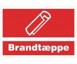 B232 Brandtæppe - Aluskilt 20x30cm