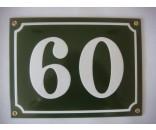 Emaljeskilte 10x12cm grøn-hvid
