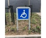 Handicapskilt / Invalideskilt 50x50cm med lav galge