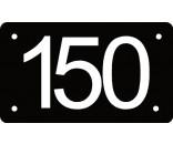 Husnummer skilt 7x12 cm sort