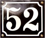 EMALJESKILTE 15X20 CM SORT/HVID - HUSNUMMER