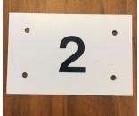 Nummerskilt 6,5x10 cm 1 ciffer