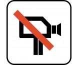 VIDEOOPTAGELSE FORBUDT P233 PIKTOGRAM SYMBOL