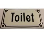 Toilet hvid/sort 8x15 cm (Emaljeskilte)-20