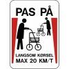 1099-70x50-2 Pas på - Langsom kørsel rollator