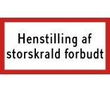 Henstilling af storskrald forbudt - ALUSKILT 25x50 cm