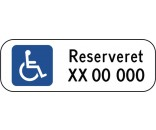 Handicapskilt  20x60 cm - Parkeringsskilte