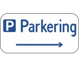 Parkeringsskilt med højre pil