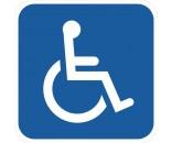 Handicapskilt 40x40 cm