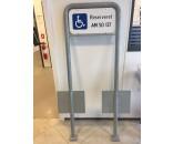 Handicapskilt 25x50 cmm/reg. nr.& lav galge