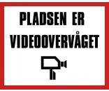 Pladsen er videoovervåget 40x50 cm - Aluskilt